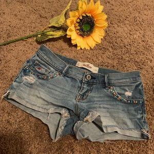 EUC‼️ Hollister Size 0 Embellished Shorts